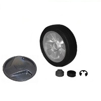 2 x VICTA 7 INCH LAWNMOWER WHEEL & CIRCLIP CH83353A