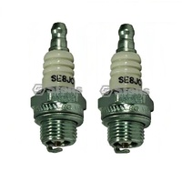 2X STENS MEGAFIRE SPARK PLUGS FOR SELECTED BRIGGS MOTORS TRIMMERS CHAINSAW CJ8