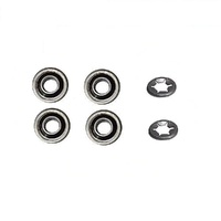 "4 x LAWN MOWER 1/2"" SEALED WHEEL BEARINGS & CIRCLIPS FOR HONDA ROVER MASPORT"