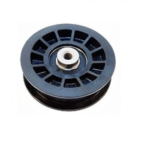 FLAT IDLER PULLEY FOR JOHN DEERE RIDE ON MOWERS  AM115459