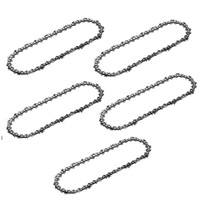 "5 x CHAINSAW CHAIN FITS 12"" BAR  HUSQVARNA  RYOBI   45 3/8 LP .050 PRO CHAIN"