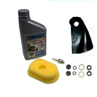 LAWN MOWER  BLADES & SERVICE KIT FOR VICTA MOWERS WITH 3.5 TO 4 HP BRIGGS