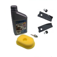 MASPORT & MORRISION LAWNMOWER BLADES & SERVICE KIT 3.5 - 4HP BRIGGS AND STRATTON