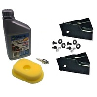 BLADES & SERVICE KIT FOR LATE MODEL ROVER LAWN MOWERS WITH 3.5 TO 4. HP BRIGGS