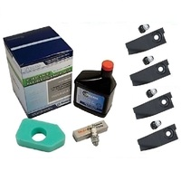 MASPORT LAWN MOWER BLADES & SERVICE KIT FOR 3.5 TO 4.75 HP BRIGGS AND STRATTON