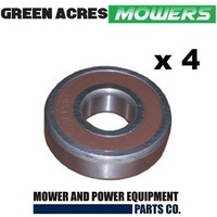 4 x FRONT WHEEL BEARING FOR COX RIDE ON MOWER   BB204212 , BB204212N