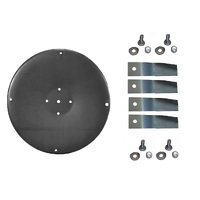 BLADE DISC AND BLADES FITS 32 INCH COX RIDE ON  MOWER