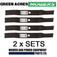 2 SETS 40 INCH BLADES FOR MURRAY & VIKING RIDE ON MOWER