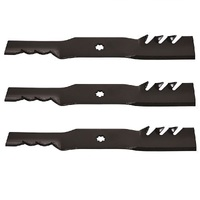 "TOOTHED BLADE SET FOR 48"" JOHN DEERE 7 POINT STAR GATOR PREDITOR GX21784 GX21786"