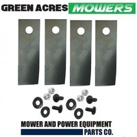 BLADE KIT FOR ROVER  MOWERS 4 BLADES AND BOLTS  A01118K , A00672K HARDENED BLADE