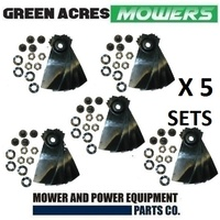 "10 PAIRS 20 BLADES AND BOLTS FOR 18"" MASPORT & MORRISON LAWN MOWERS 529594"