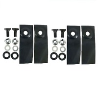 "2 X BLADE AND BOLT KITS FOR 18"" MASPORT & MORRISON MOWERS 529594 780658"