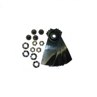 "2 X BLADE KITS FOR 20"" MASPORT & MORRISON MOWERS 4 BLADES AND BOLTS"