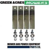 2 X BLADE KITS FOR 32 INCH COX RIDE ON MOWER (LOW FLUTE) SKIT54