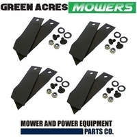 8 RIDE ON MOWER BLADES AND BOLTS FOR GREENFIELD MOWER GT2139 GT02139