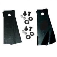 FLAT AND FLUTED BLADE KIT COMBO FOR ROVER RANGER RANGER RIDE ON MOWERS A0673K A07873