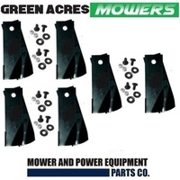 12 BLADE & BOLTS FOR ROVER RIDE ON MOWERS  3 SETS  A07873 A0673K A07873 A0673K