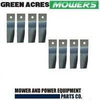 4 X BLADE SETS FOR 28 INCH COX RIDE ON MOWER  8 X BLADES ONLY