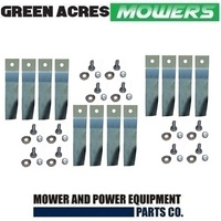 "12 X BLADE KITS FOR 32"" COX RIDE ON MOWER 12 x BLADES AND BOLT SKIT55"