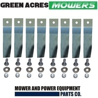 "4 X BLADE KITS FOR 32"" COX RIDE ON MOWER (8 HARDERNED BLADES AND BOLT ) SKIT55"