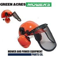 CHAINSAW BRUSHCUTTER SAFETY HELMET HARD HAT VISOR & EAR MUFFS