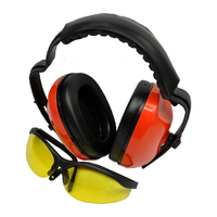 EAR MUFF & SAFETY GLASSES KIT IDEAL FOR MOWER CHAINSAW LINE TRIMMER