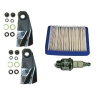 "LAWN MOWER 18"" MULCHING BLADES CA09506S & SERVICE KIT FOR VICTA BRIGGS QUANTUM"