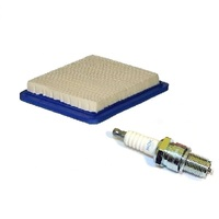 LAWN MOWER AIR FILTER FOR BRIGGS & STRATTON QUANTUM AND J19LM SPARK PLUG VICTA