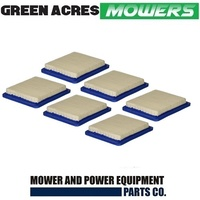 6 x Air Filters fits Briggs and Stratton Quantum Motors   491588 / 399959