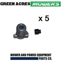 5 x LAWNMOWER STOP SWITCH CUT OUT PLUG AND COVER FOR VICTA POWER TORQUE MOTORS