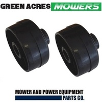 2 X ROVER AND SCOTT BONNAR ROLLER END CAPS FOR  CYLINDERS MOWERS A455865
