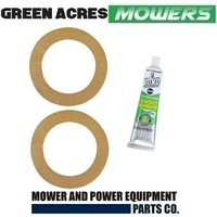 2 x DRIVE DISCS CORKS + GLUE FOR ROVER & VICTA RIDE ON MOWERS A12063