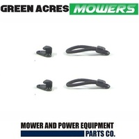 2 X BONNET STRAPS & CATCHES FOR COX & GREENFEILD MOWERS