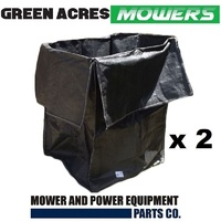 2 X LAWN MOWER RIDE ON MOWER GRASS LEAF GARDEN RUBBISH BAG LARGE HEAVY DUTY