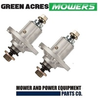 2 x BLADE SPINDLE ASSEMBLY FOR JOHN DEERE 7 POINT STAR   GY20454   GY20962