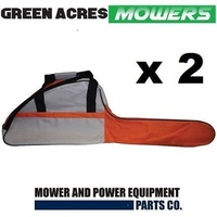 "2 X CHAINSAW CARRY CASE AND BAR COVER BAG UPTO 18"" CHAINSAWS"
