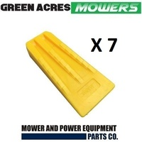 7 PAC OF 5 1/2 INCH CHAINSAW TREE FELLING AND SPLITTING WEDGES