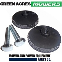 2 x HANDLE BOLT AND KNOB FOR VICTA LAWN MOWERS