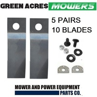 5 X BLADE KITS FOR 21 INCH HONDA LAWN MOWER 10 X BLADES & BOLTS LOW FLUTE BLADES