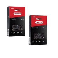 "2 x CHAINS NEW OREGON CHAINSAW CHAIN FITS 14"" BAR  HUSQVARNA  RYOBI  52 3/8 LP"