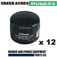 12 X STENS OIL FILTERS FOR BRIGGS AND STRATTON MOTORS 492932 / 492058