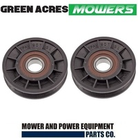 2 X  IDLER V PULLEY FOR COX RIDE ON MOWERS   PIVBB20SPA90