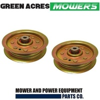 2 x FLAT IDLER PULLEY FOR HUSQVARNA MOWERS 532 13 14 94 ,131494 , 173438