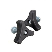 2 x HANDLE KNOBS & BOLTS FOR SANLI POWER SERIES  LAWN MOWERS