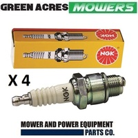 4 SPARK PLUGS NGK CMR5H FOR HONDA GX25 GX35 TRIMMERS & BLOWERS