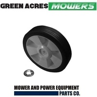 7 INCH WHEEL & RETAINER CLIP FOR ROVER MASPORT VIKING LAWN MOWERS