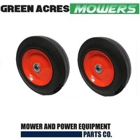 2 X 8 INCH STEEL WHEELS WITH BEARINGS FITS ROVER MASPORT VIKING LAWN MOWERS