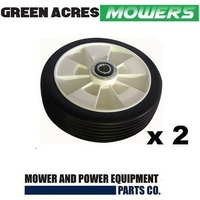 "2 X 7 "" INCH WHEELS FOR ROVER MASPORT VIKING LAWN MOWERS WITH SEALED BEARINGS"