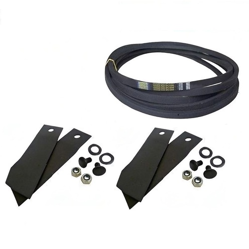 BLADE & BELT KIT FOR SELECTED GREENFIELD MOWERS GT18005 , GT2139