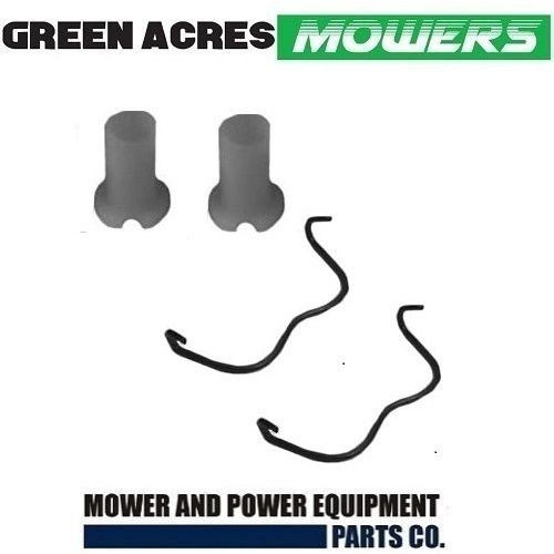 VICTA LAWNMOWER AXLE KIT 2 X BUSHES AND 2 X CLIPS FITS EARLY MODELS